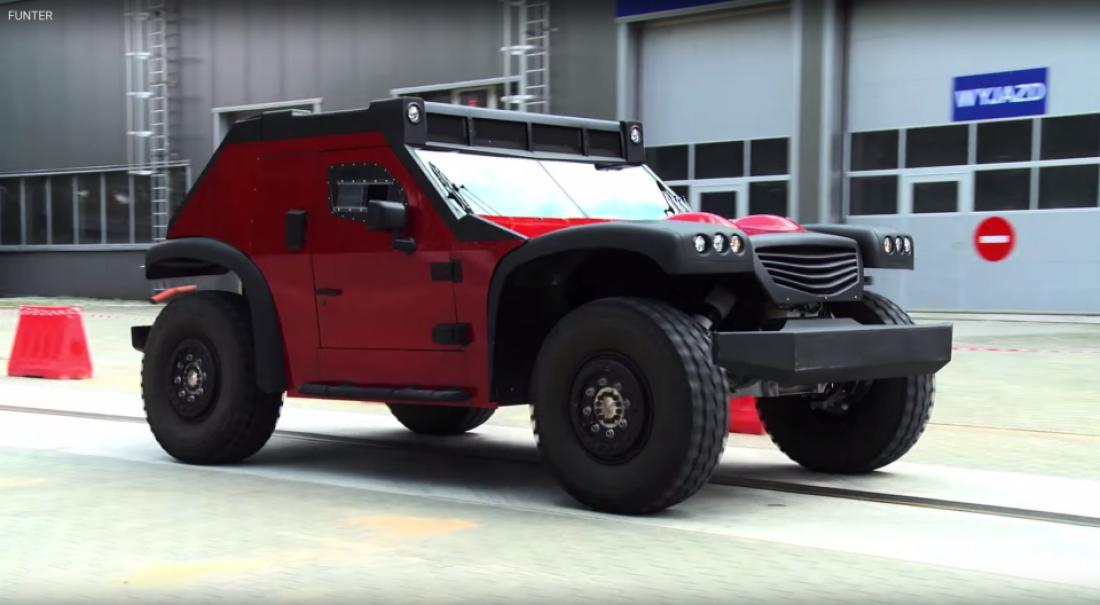 Funter 4-Wheel Steer SUV. Уникальный внедорожник в единственном экземпляре