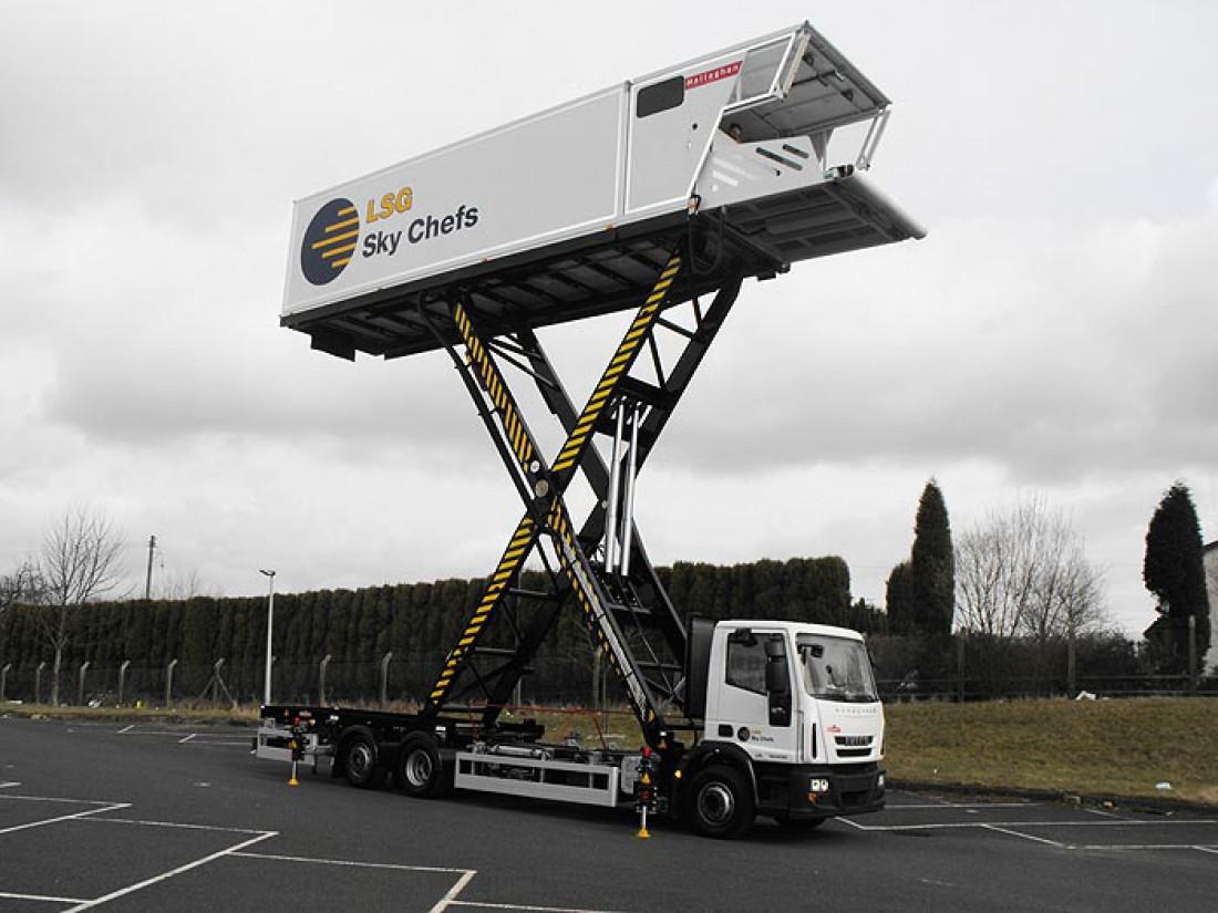 Mallaghan CT8000 — лифт для подъема провианта и багажа на борт самолета