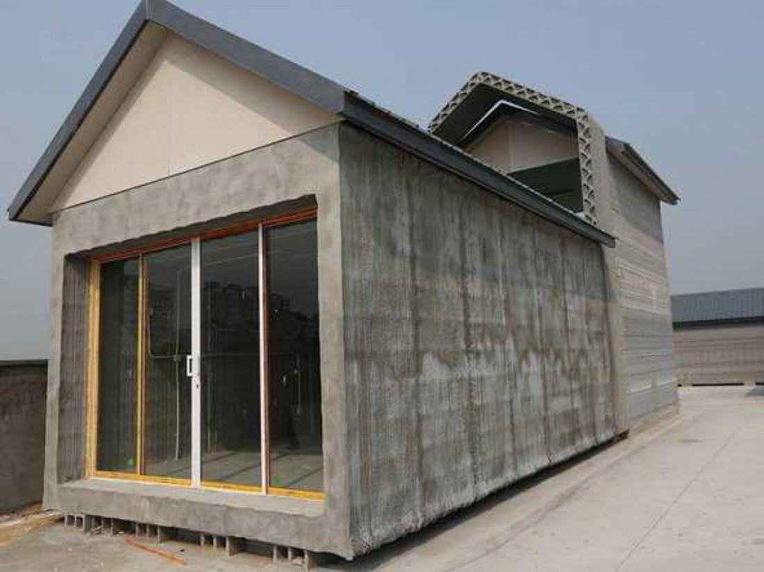 Winsun — дом, построенный из материалов, распечатанных на 3D-принтерах