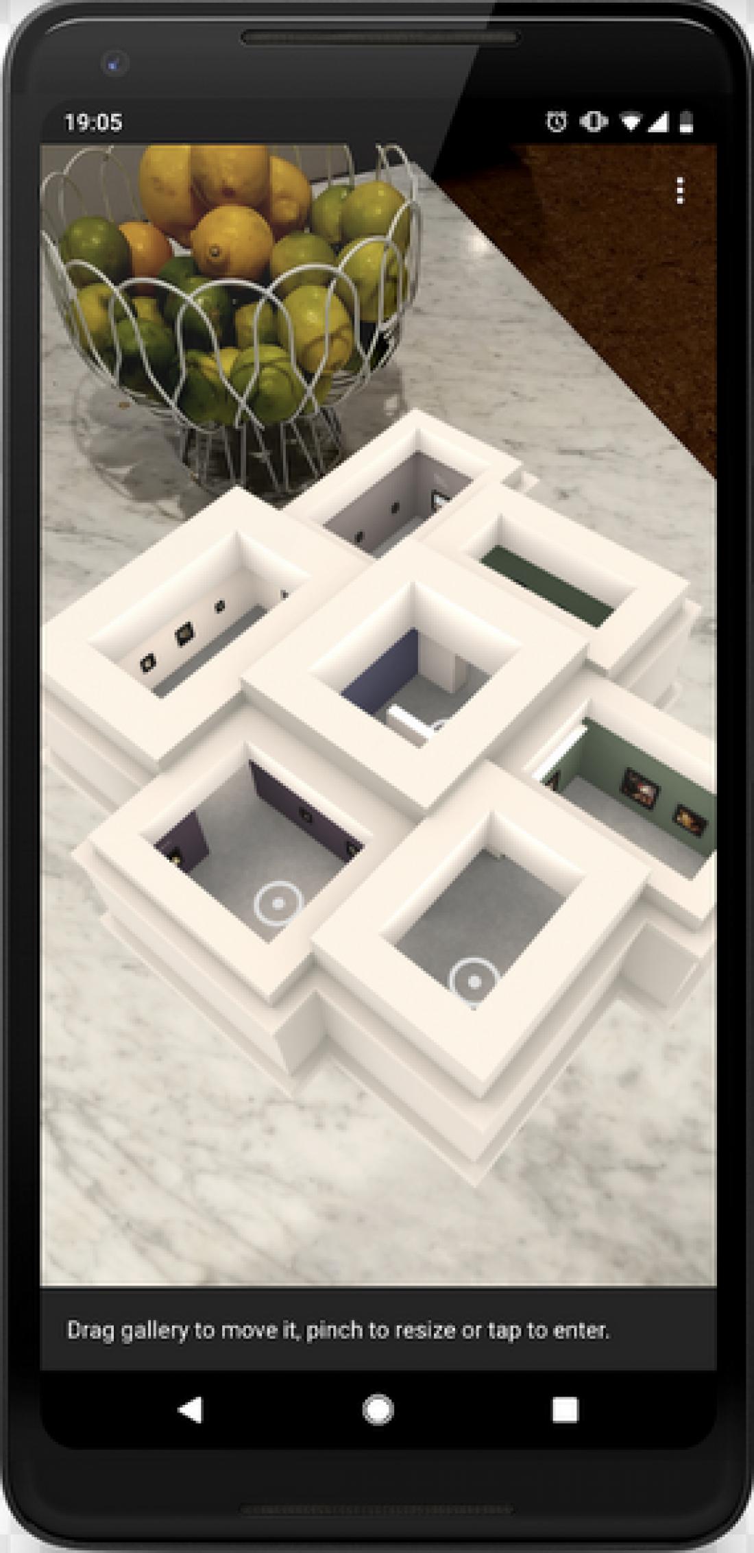 Скриншот планировки виртуальной галереи