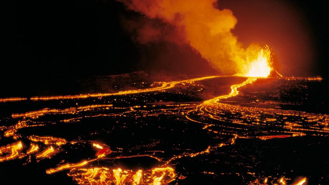Килауэа, Гавайи. Вулкан, извержение которого длится уже 33 года