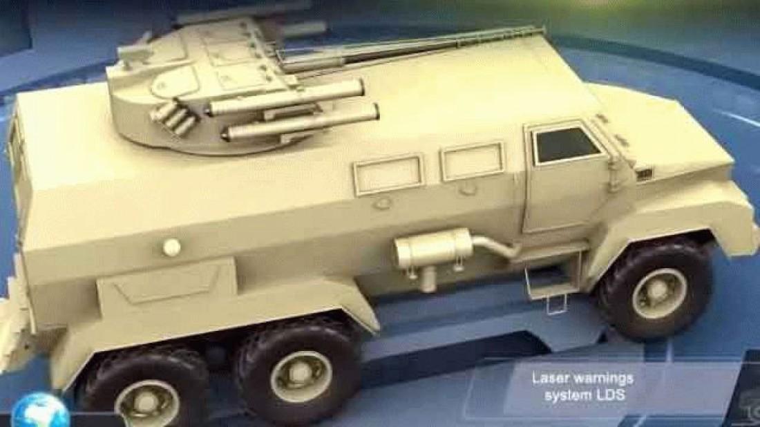 Перспективный бронеавтомобиль будет 6-колесным и полноприводным