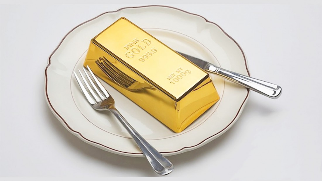 В состав некоторых самых дорогих блюд входит реальное золото
