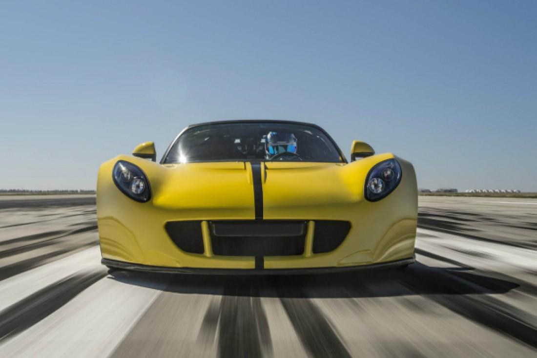 Тормозной путь Hennessey Venom GT Spyder с 435,31 км/ч до нуля занял больше километра