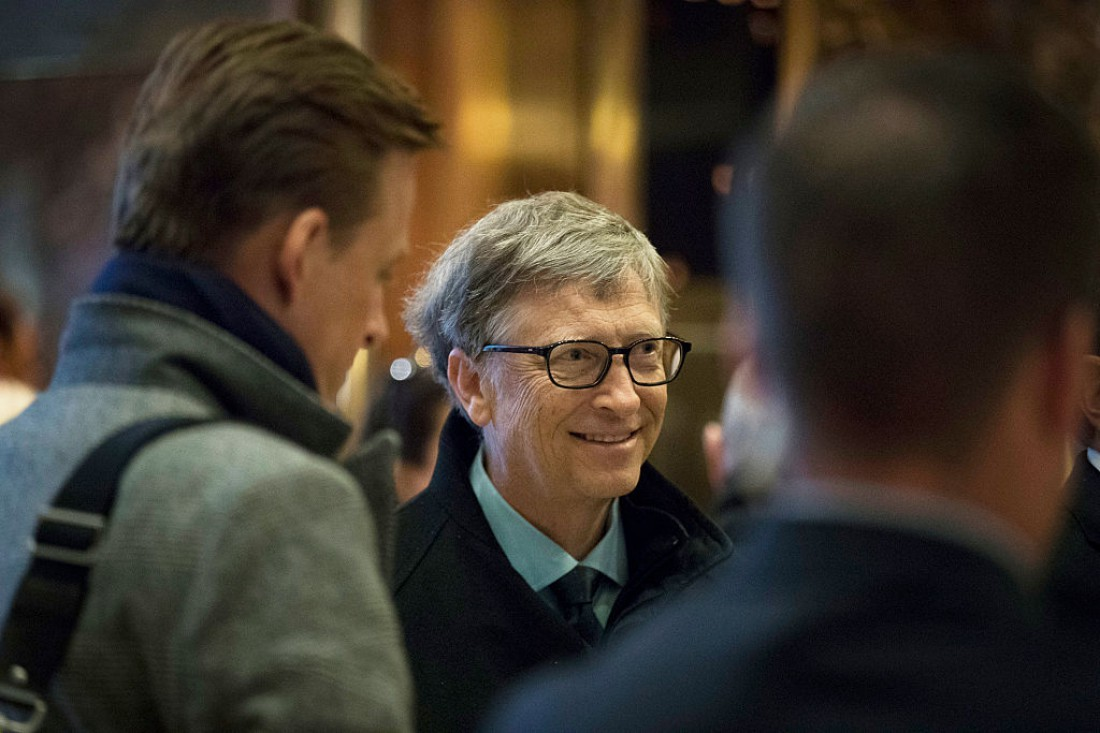 В любой ситуации будь спокоен и улыбайся. На фото Билл Гейтс