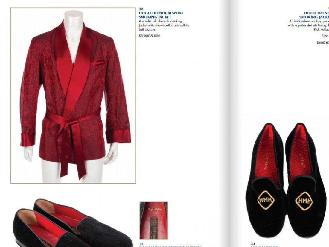 Одежда и обувь Хефа уже в аукционном каталоге