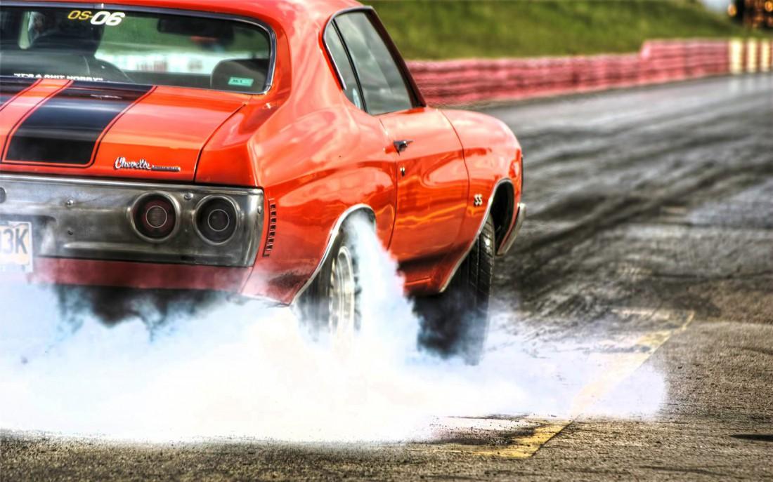 Chevrolet Chevelle. Пробуксовка