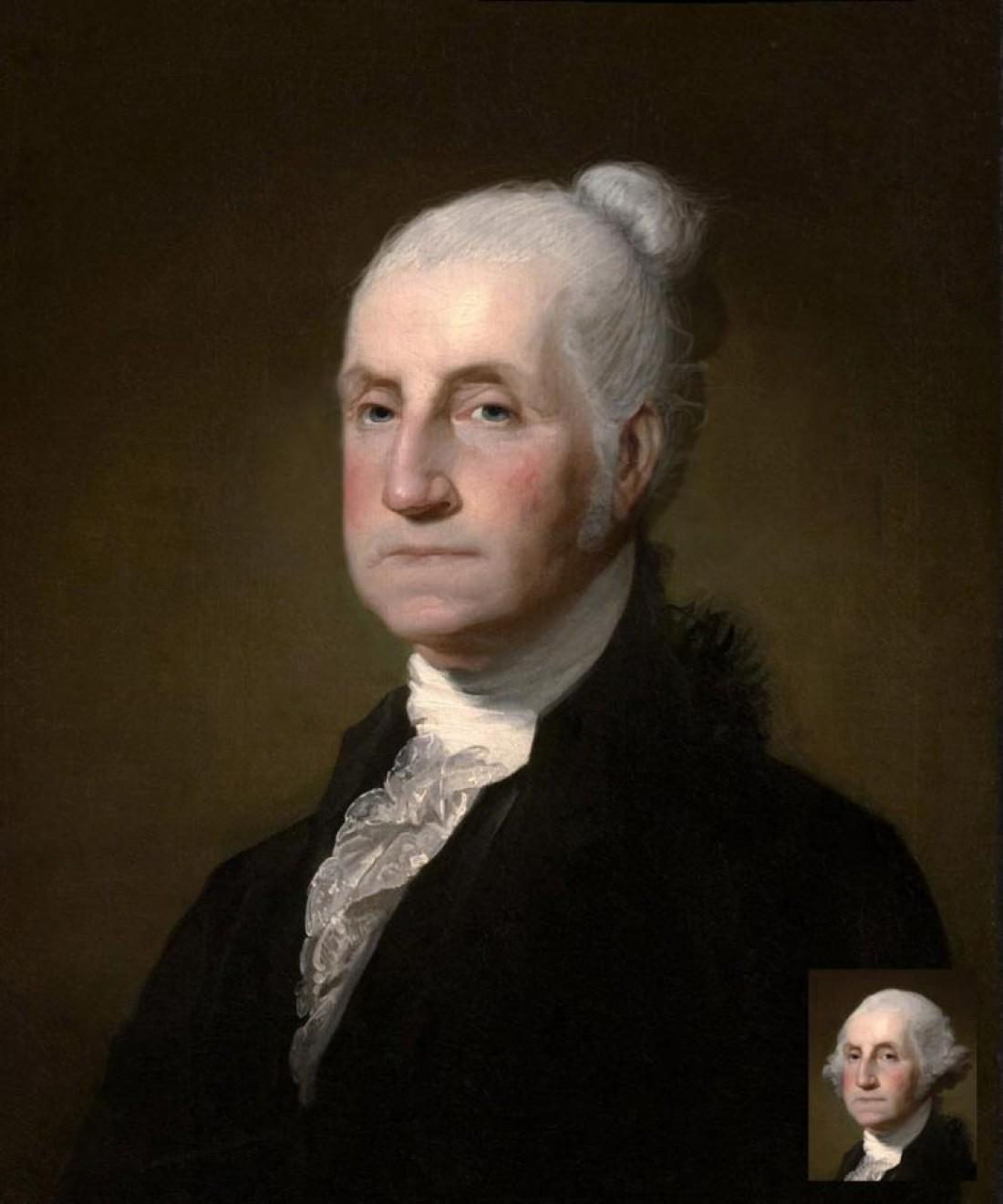 Джордж Вашингтон — американский государственный деятель, первый президент Соединенных Штатов Америки, Отец-основатель США, главнокомандующий Континентальной армии, участник войны за независимость, создатель американского института президентства