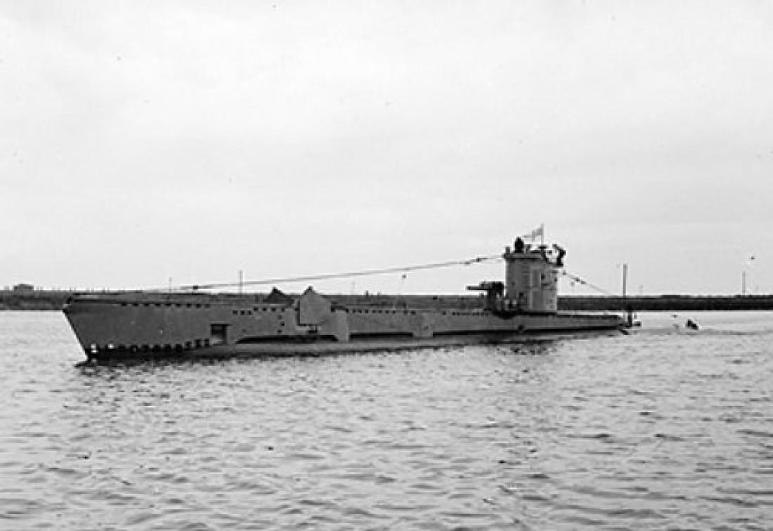 Британская субмарина Venturer. Снимок сделан 18 августа 1943 года