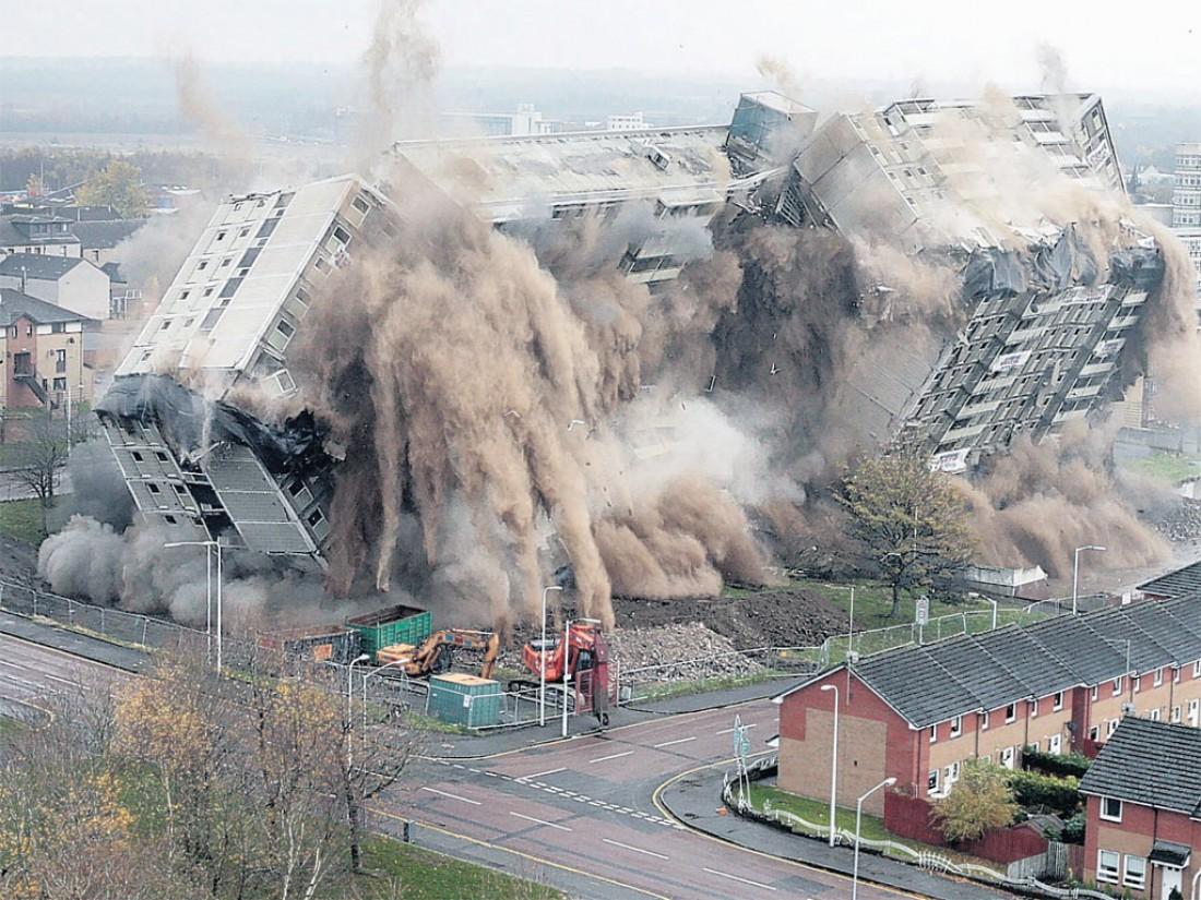 Снос зданий. Выглядит именно вот так
