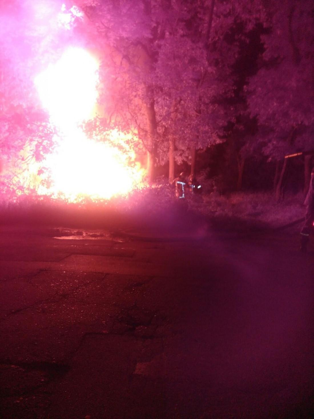 В огне сгорела машина и ее водитель