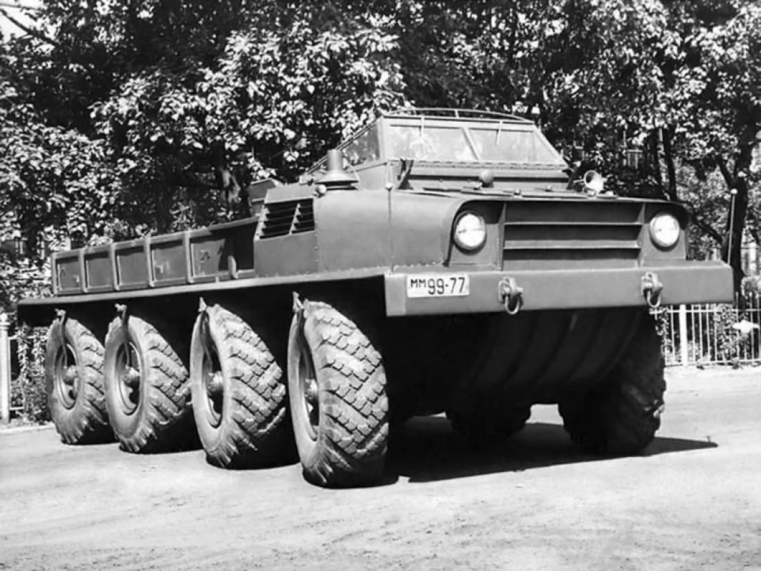 """ЗИЛ Э134, """"Макет №2"""" (1956). 8-колесный военный тягач,"""
