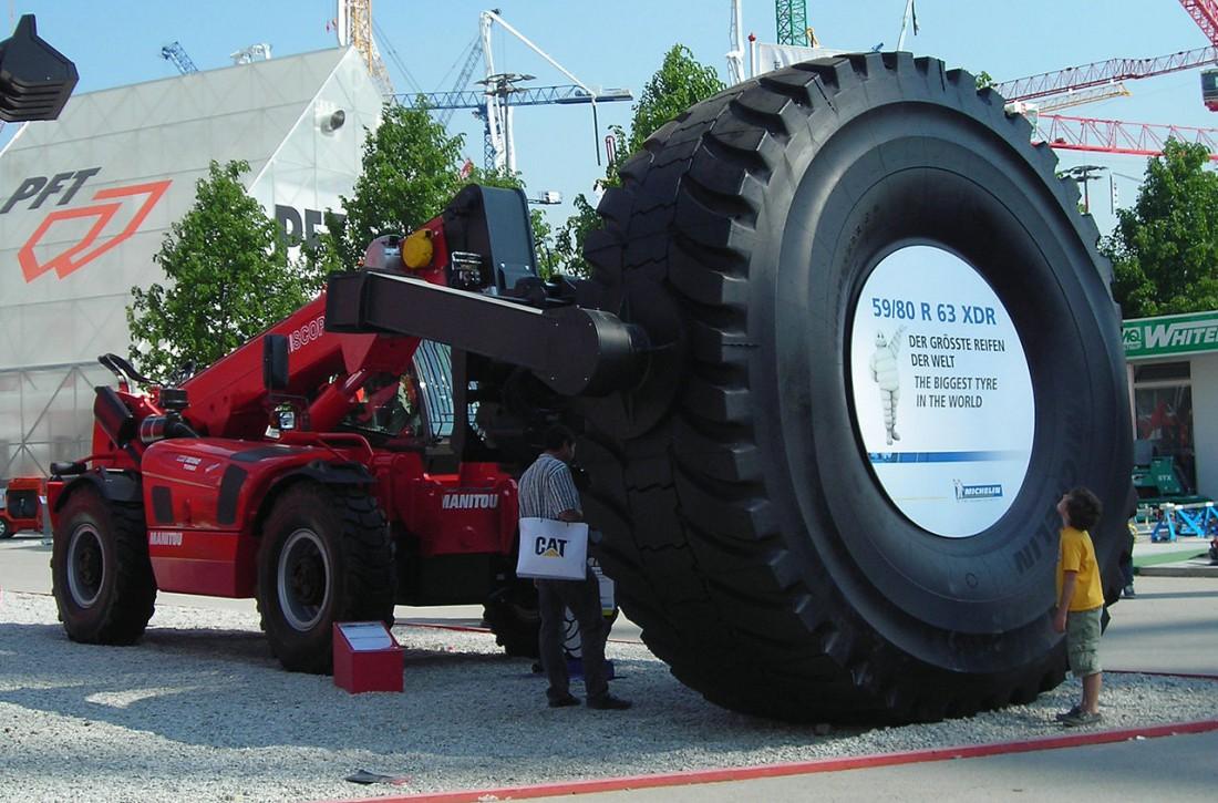 Michelin XDR — самая большая серийная шина в мире