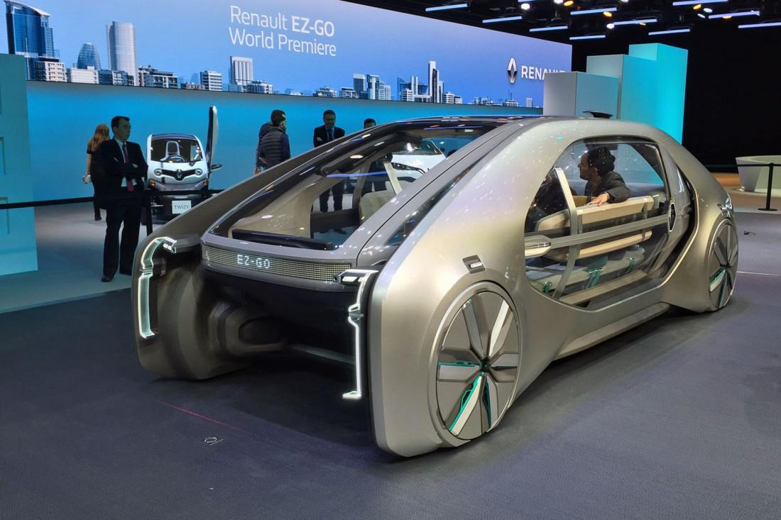 Renault EZ-GO оснащен системой автономного вождения четвертого уровня