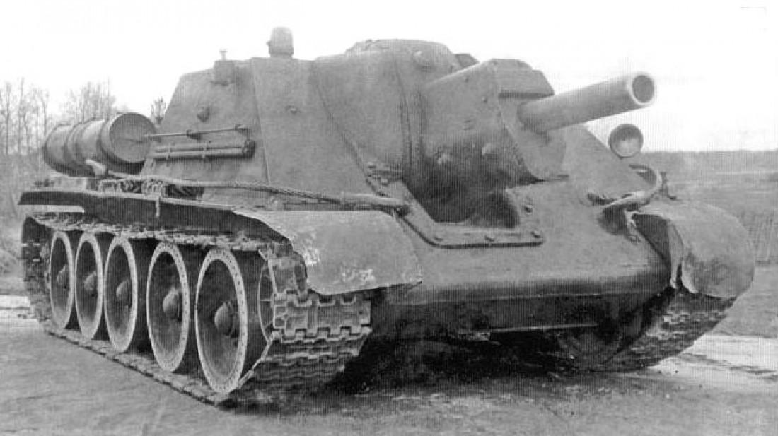 Выпуск СУ-122 прекратили в августе 1943 года — из-за перехода на производство истребителей танков СУ-85