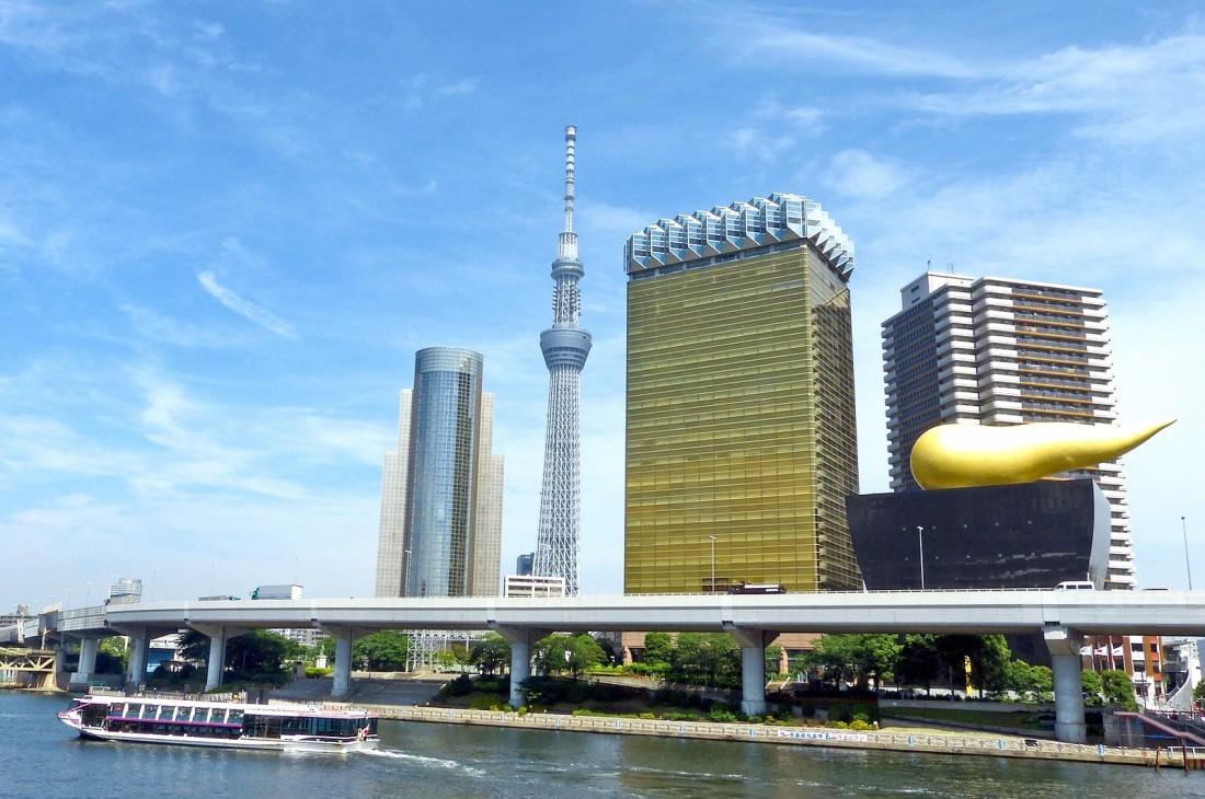 Самый красивый вид на Asahi Beer Hall — с реки