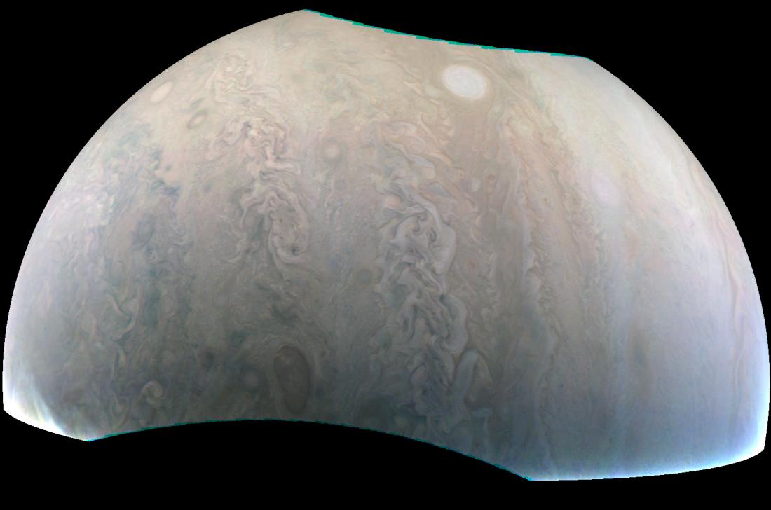 NASA опубликовало снимок жемчужин Юпитера