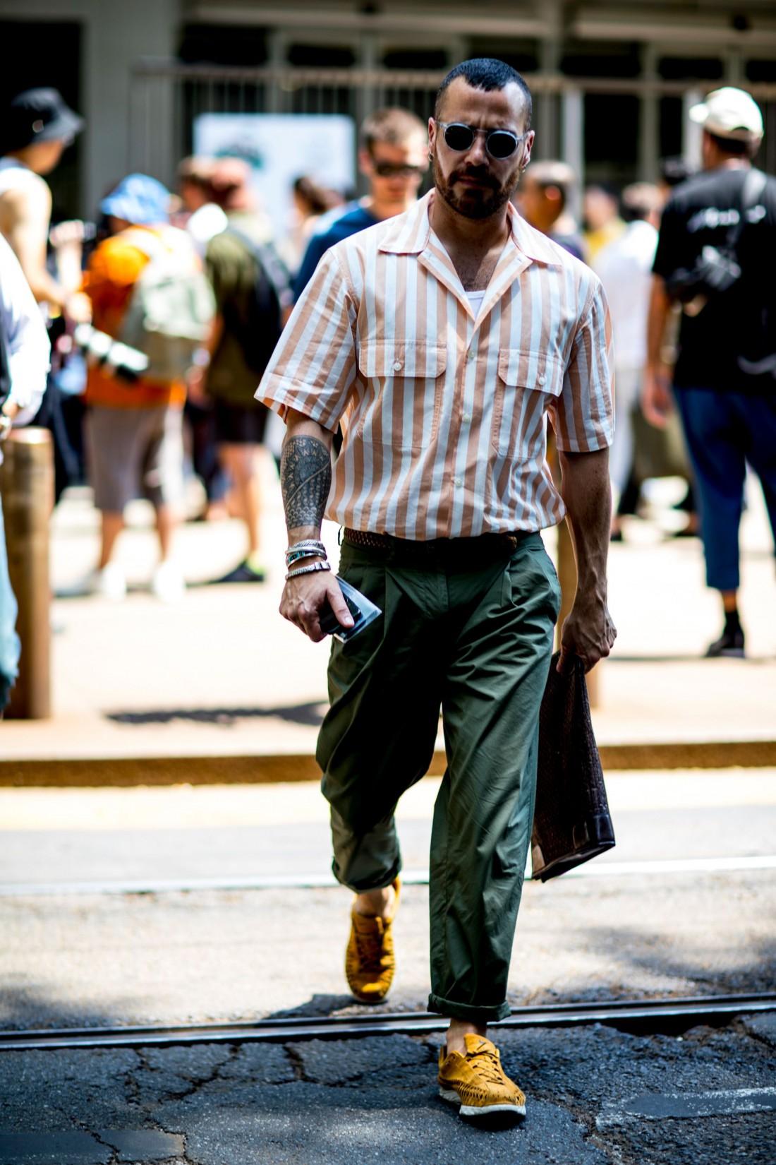 Яркие рубашки с коротким рукавом — тренд лета 2018