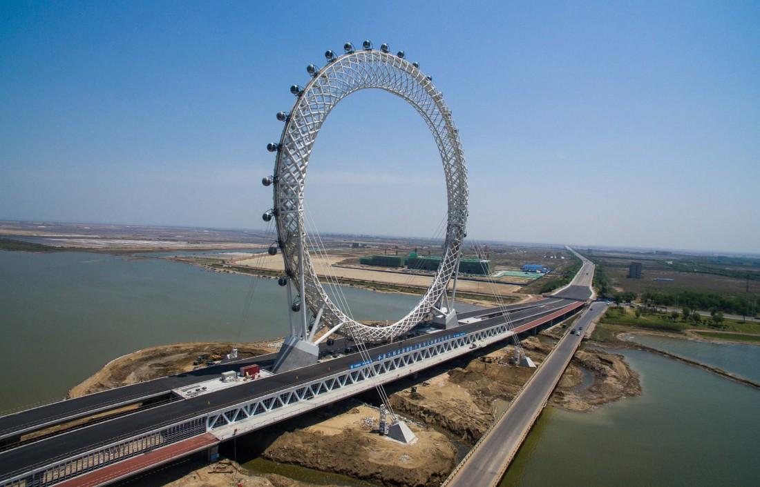 Вэйфан построили над когда-то грязной рекой Bailang