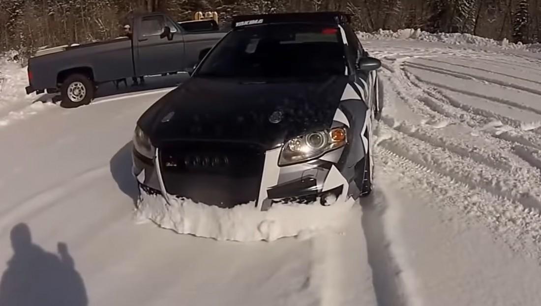 Альпийский дрифт еще и полезен - снег расчищает, например