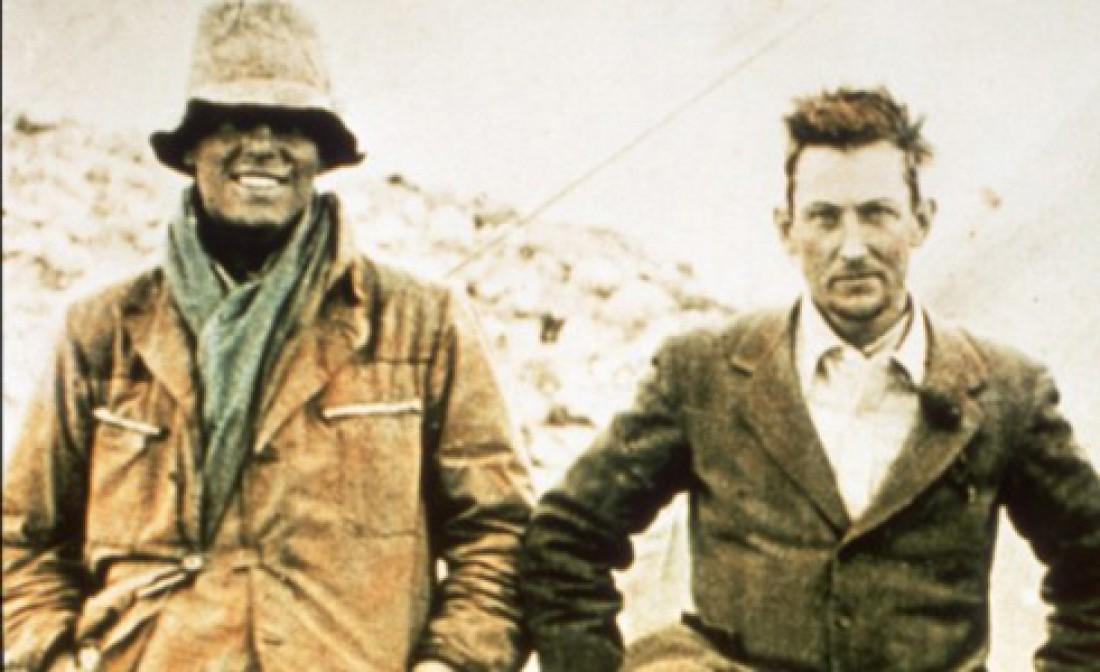 Джордж Мэллори (слева) и Эндрю Ирвин (справа). 8 июня 1924 года при попытке взойти на Эверест пропали без вести