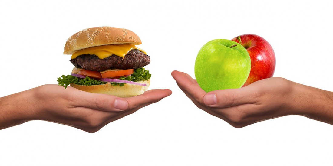 Бургер vs яблоко?
