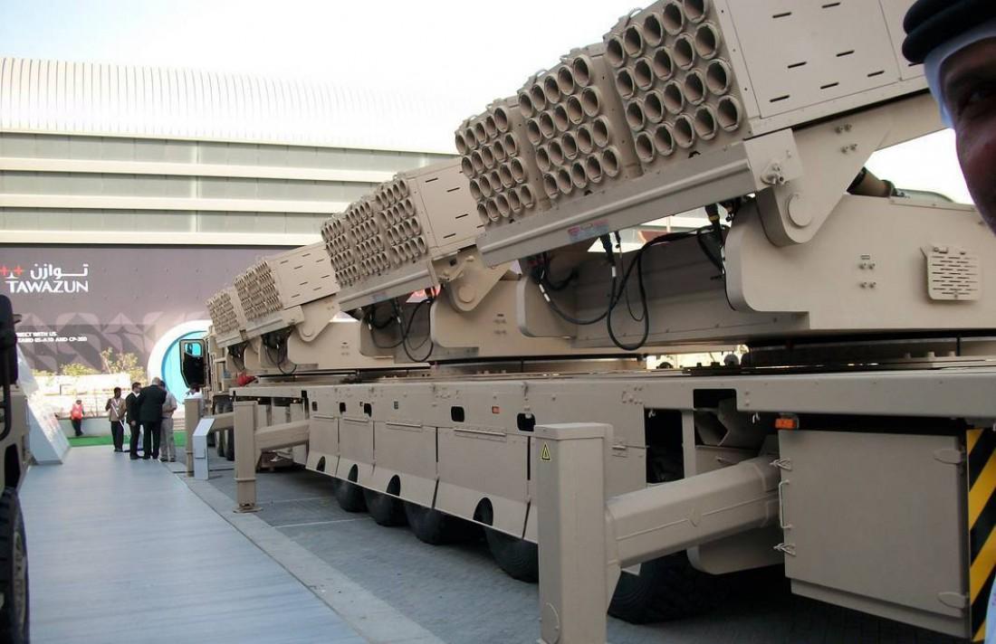 Реактивная система залпового огня Multiple Cradle Launcher