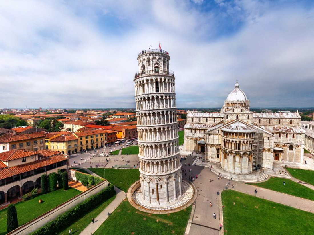 Пизанская Башня. Единственная падающая башня в мире