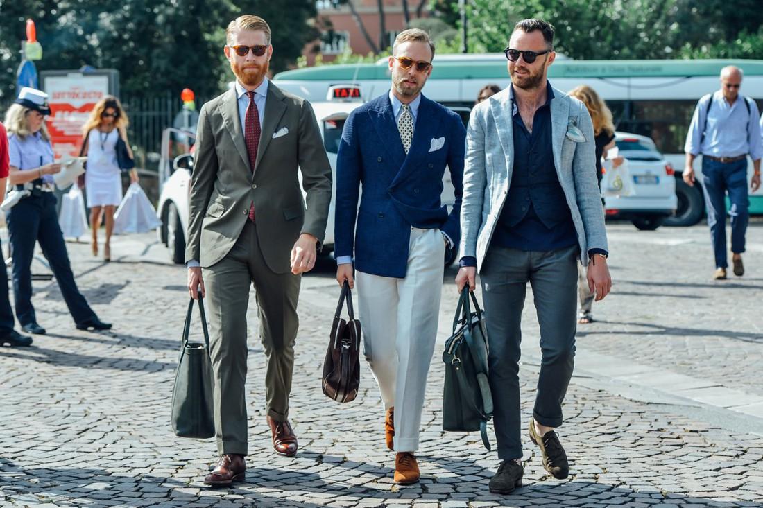 Бери пример с этих мужчин — будь стильным, даже когда на дворе пекло