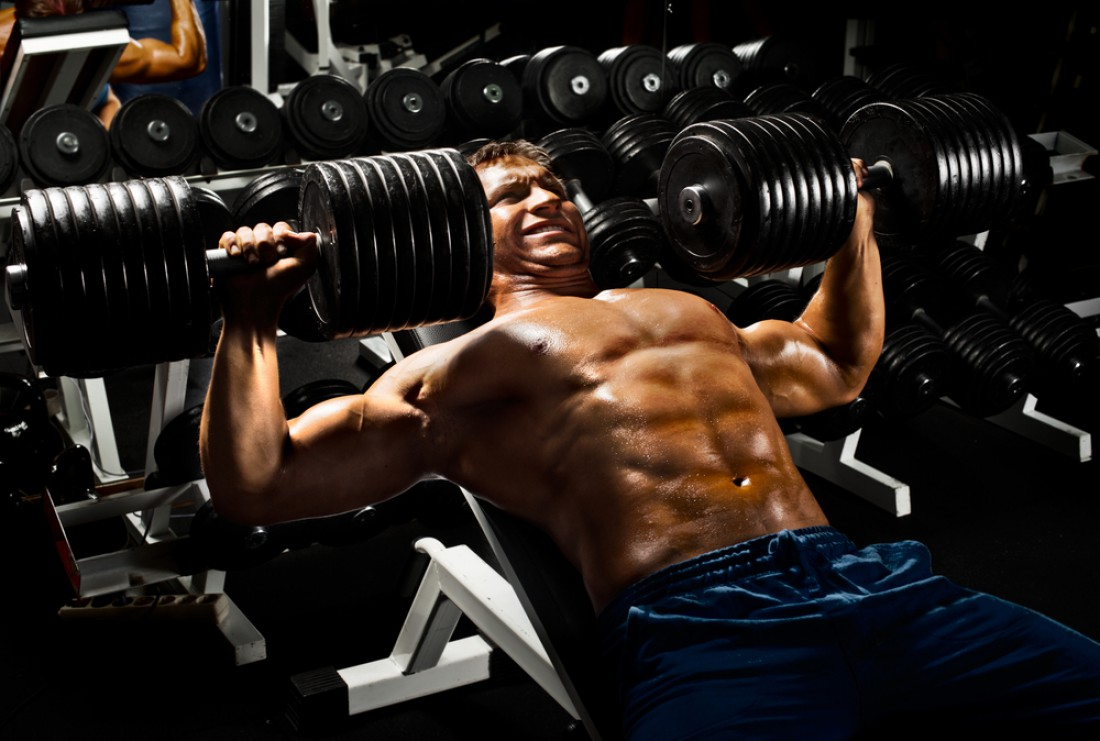 Увеличивай рабочий вес, пока он не достигнет отметки 50 кило в каждую руку