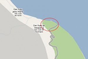 В Google Maps часть Коста-Рики отдана Никарагуа