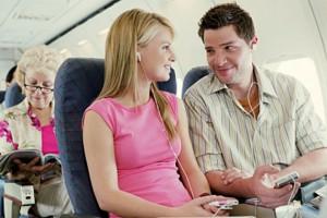 Небо и авиалайнер - отличное место для знакомства