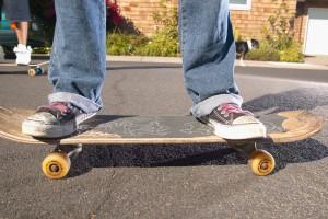 Из двух ног на скейте одна должна быть обязательно опорной