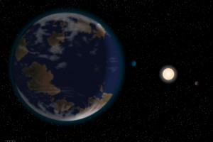 Так художник представляет себе далекую планету