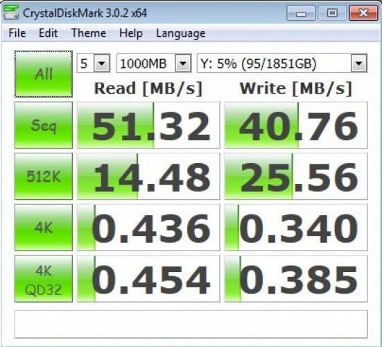 Seagate Cental - тест скорости жесткого диска