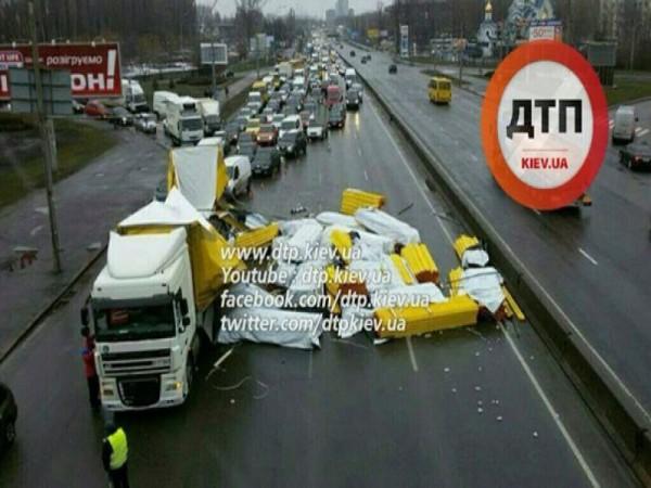Авария с фурой в Киеве