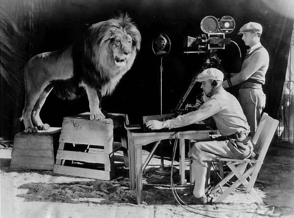 Запись звуковой заставки кинокомпании MGM
