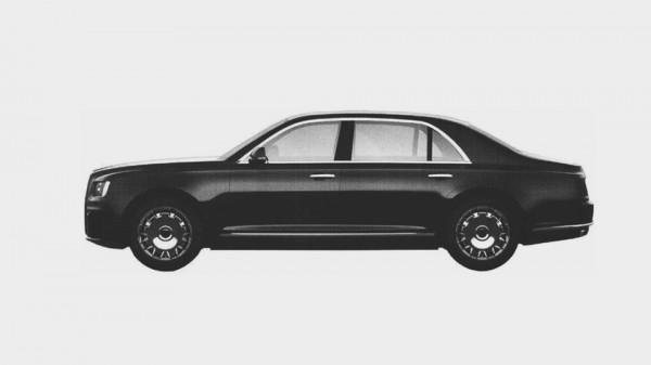 Вид лимузина в профиль