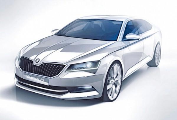 Машина на этом дизайнерском рисунке весьма похожа на серийную модель.