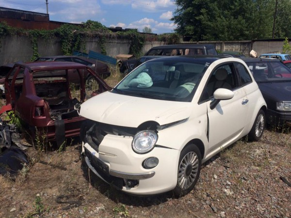 Разбитый Fiat нашли на штрафплощадке