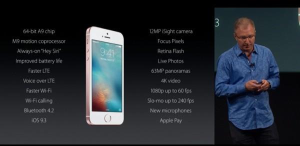 Характеристики iPhone SE