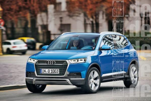 Audi Q1. Неофициальная иллюстрация.