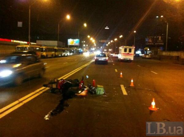 Авария скутера в Киеве