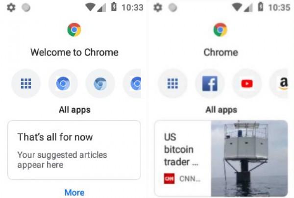 Внешний вид браузера для кнопочных телефонов