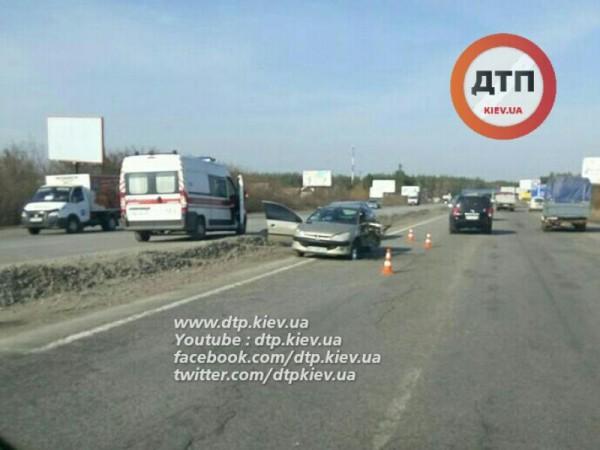 В аварии на Киевщине пострадали дети