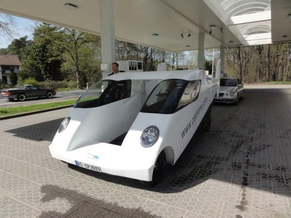 Прототип летающего автомобиля с двойным фюзеляжем