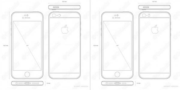 Чертеж нового телефона Apple