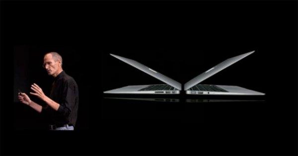 Стив Джобс рассказал о новом Макбуке