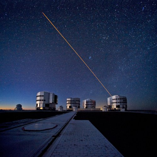 Телескоп VST в работе