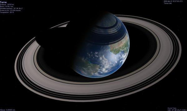 Земля с кольцами, как у Сатурна – на самом же деле, этот пояс невидим